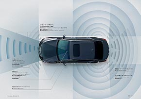 カメラとレーダーとセンサー機能イメージ