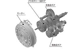 SPORT HYBRID SH-AWD 高出力モーター内蔵7速DCT 構造図