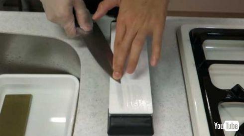100均 包丁 研いでみた 切れ味 研石 3万円