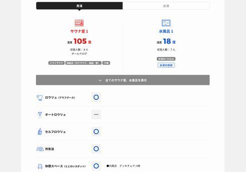 サウナイキタイ サウナ 情報 ポータル 検索 全国 サイト 水風呂 温度