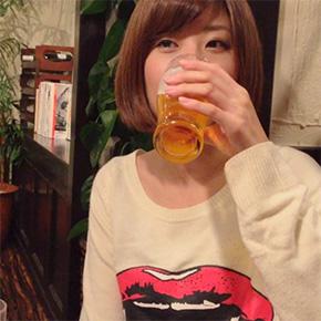 天野麻菜 ビール女子。 最初 1500日