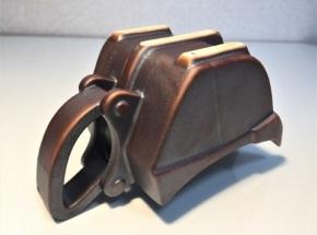 油圧ショベル カップ 黒鉄 鉄さび ショベルカー コーヒー リッパーバケット