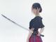 ミニスカ×日本刀は正義! 声優・小倉唯の「魔法先生ネギま!2」夏凜コスが凜々しくて可憐