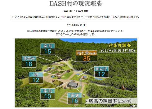 ザ!鉄腕!DASH!! TOKIO 福島DASH村