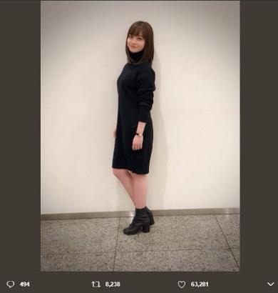 橋本環奈 クリスマス 私服 Twitter