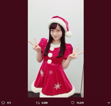 橋本環奈 クリスマス サンタコス コスプレ Twitter