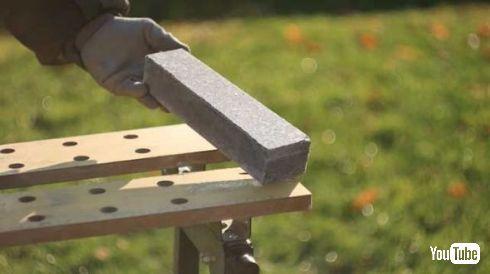 石の塊 石のナイフ 作り方 研磨 YouTube