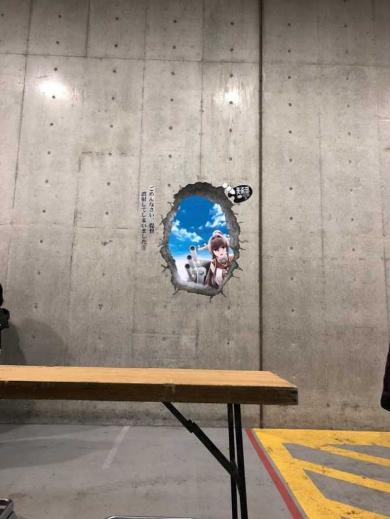 ビッグサイト 壁に穴 アイデア ポスター 冬コミ