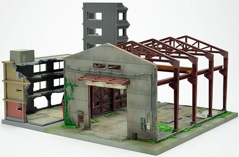 「また何ともコアすぎるモノを…!」1/150スケールで再現されたレイアウトの自由度が高い「廃墟」が登場