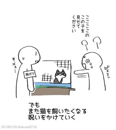 猫を飼うのは大変 イラスト 幸せだったか