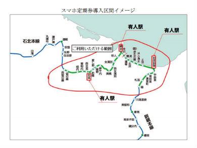 スマホ定期券 JR北海道