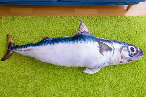鯖 クッショ 巨大 180センチ ヴィレッジヴァンガード