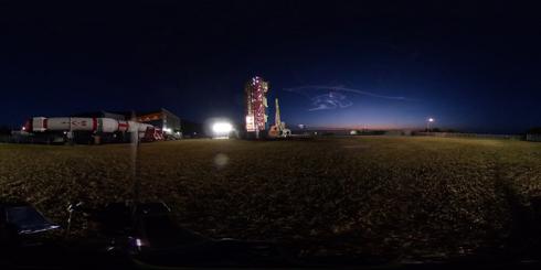 イプシロンロケット3号機の打ち上げで「夜行雲(やこううん)」