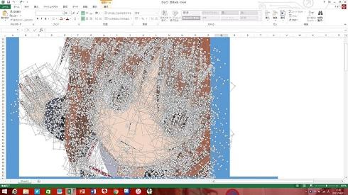 絵描きソフトを使わずとも絵は描ける? Excelを使って描くExcelアートのクオリティが高すぎる