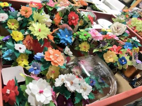 おじいちゃん 作品 折り紙 お花 アート