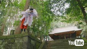 石垣から見事なパルクール技でジャンプ