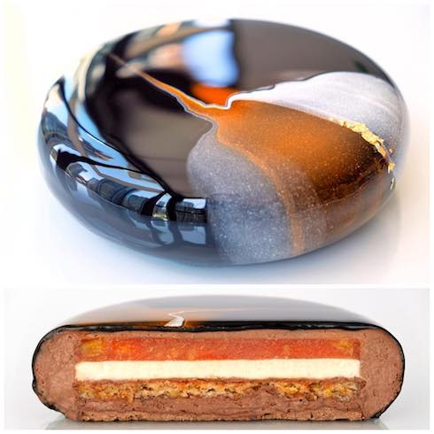 kseniapenkina アートケーキ ムースケーキ オレンジヘーゼルナッツ
