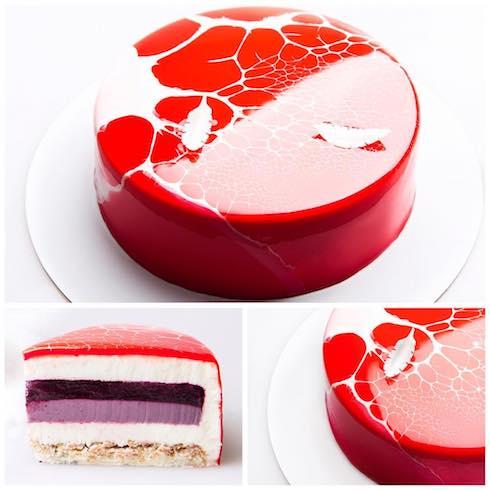 kseniapenkina アートケーキ ムースケーキ ベリーケーキ