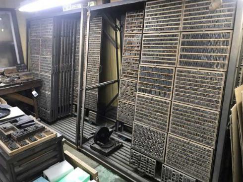 印刷機 活字一式 スクラップ 危機 引き継ぎ 譲渡