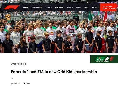 Formula 1 and FIA in new Grid Kids partnership