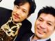 「笑顔が素敵な同学年」 稲垣吾郎、アメブロ最優秀賞で藤田社長とレアショット