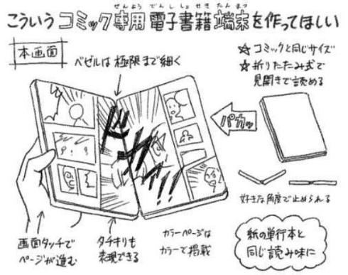 電子書籍 コミック用 端末 作ってほしい 篠原健太