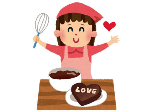 チョコレートを調理する人