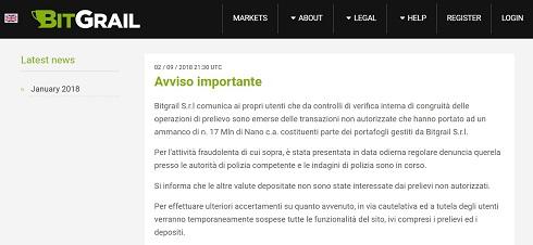 イタリア 仮想通貨 取引所 BitGrail 流出 Nano XRB