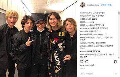 森進一 ONE OK ROCK Taka Instagram