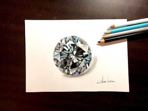 宝石 イラスト 色鉛筆