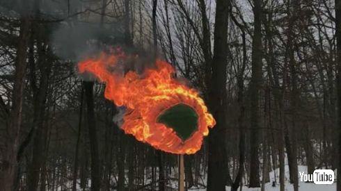 マッチ 球 燃やす 炎上
