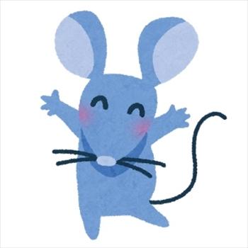 パトカーの前に現れたネズミ