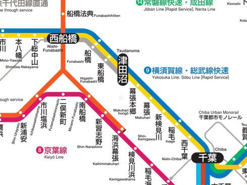 総武本線路線図