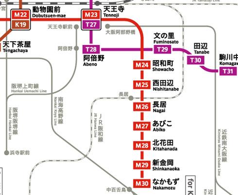 大阪市営地下鉄路線図