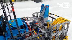LEGO レゴ 除雪機 雪かき車 制作
