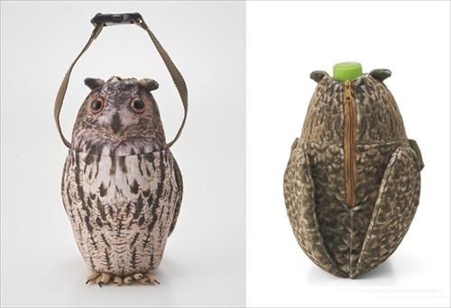 フクロウのペットボトルケース