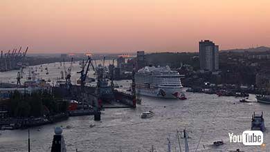 三菱重工 豪華客船 タイムラプス