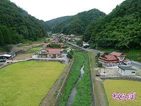 宇都井駅周辺の集落