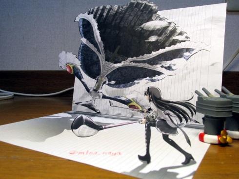 水鳥なや 3Dアート 艦これ ごちうさ まどマギ チノ 島風 ほむら まどか