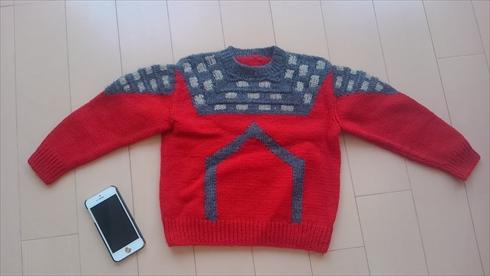 ウルトラセブン 母 ウルトラの母 セーター 手編み
