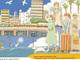 """海の上を走るモノレール、架空の街の列車旅 """"子ども時代の落書き""""が原作の同人誌にわくわくが止まらない"""