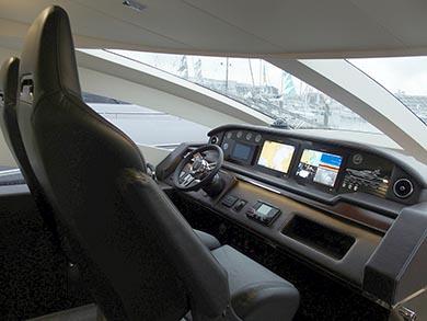 JACK 72 Dea del mareの操舵席