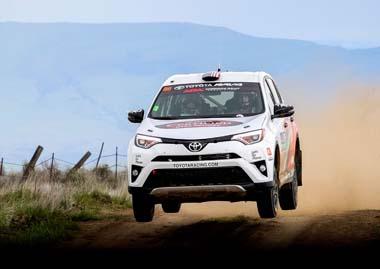 トヨタは2015年から、RAV4をベースとした車両で「ラリーアメリカ」などのラリー競技に参戦しています