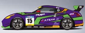富士SUPER TEC 24時間レースに参戦する「エヴァRT初号機 岡部自動車 Z34」