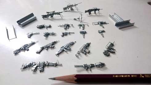 ホッチキス 針 制作 銃火器