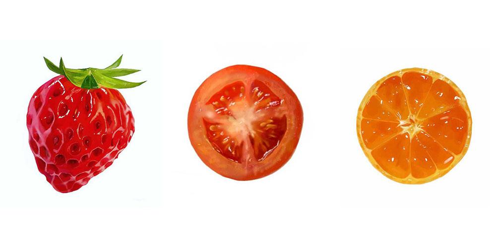 写真にしか見えないフルーツや野菜のイラストにtwitterで驚きの声 写真じゃないの 本物よりおいしそう ねとらぼ