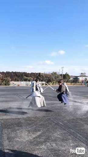ソフトバンク 私立スマホ中学 ジェット 侍 チャンバラ 森翔太 動画