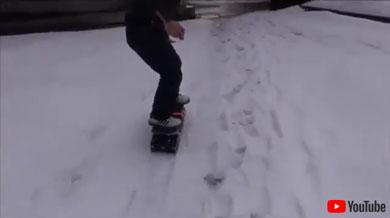 雪上を走る様子