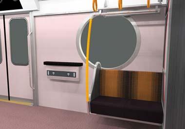 車端部には東京メトロ初の丸窓を採用