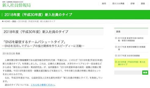 新入社員情報局のホームページ